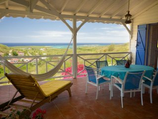 Sainte Anne:  Creole Villa with Wonderful view on sea and islets CapChevalie
