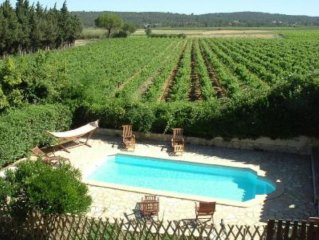 Character gite with swimming pool, surrounded by