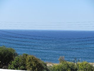 Stunning sea views from the villa balcony