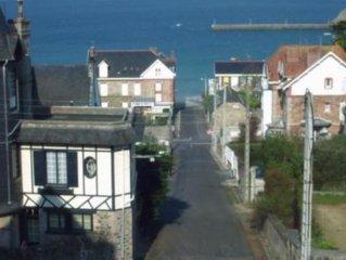 Appartement indépendant en rdc vue directe mer 100m  belle plage