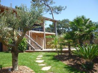 Maison d'architecte avec vue sur l'ocean et piscine privée