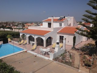 Spacious Child Friendly Villa, Private Pool, Sea view, Games Court & Free Wi-Fi