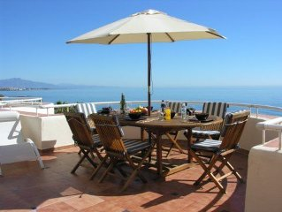 Beachfront, Luxurious, Penthouse With Very A Large Terrace Having 180º Sea Views