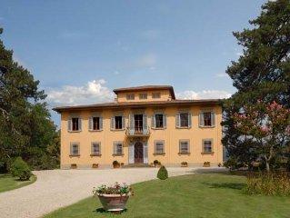 Luxury, exclusive villa on Tuscan hills near Florence