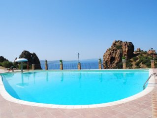 Sardinia - Charming cottage in the village facing the sea with swimming pool an