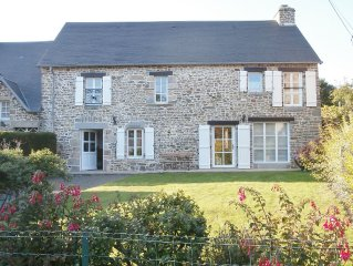 4 bedroom house in a quiet rural hamlet 3km from the sea on Mont St. Michel Bay