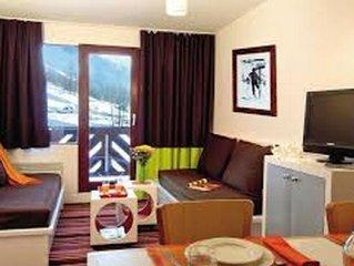 Studio tout confort avec chambre 4 pers. au pied des pistes, près de tout