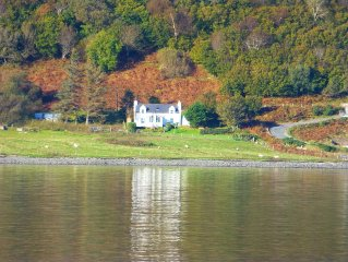 Cottage Close To Sea Shore With Sea and  Mountain Views, 8 miles from Portree.