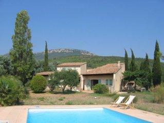 Maison de caractere avec jardin et vue sur vignobles et collines