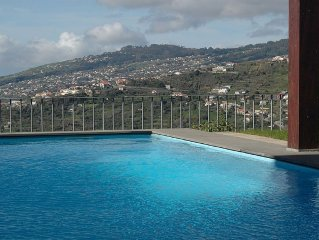 Villa, with Stunning Sea View, heated private pool, internet, 3 beds - Villa E