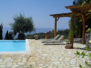 Beautiful 3 bedroom villa overlooking Ionian sea, with private pool.