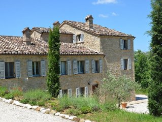 Spacious Villa Near Friendly Village. Lovely Wooded Valley Views,Salt Water Pool