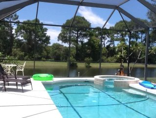 TURTLES NEST -  Beautiful vacation home with pool overlooking pond and preserve