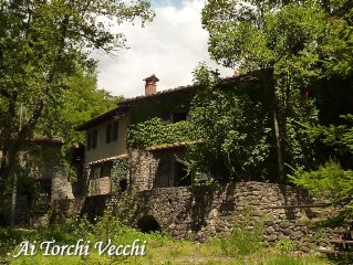 'Ai Torchi Vecchi' Ancient Mill on the river,Tuscany .Very Private , Very Quiet
