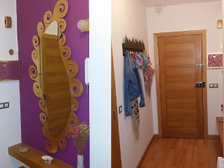 Flat in Pontevedra for 5 people: quiet, central and sunny. WIFI 150 Mb