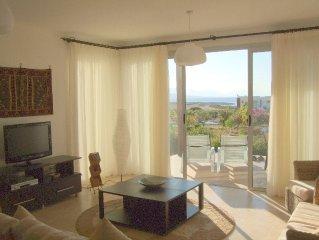 Luxury beachside 3 bed garden apartment. Secure gated development.