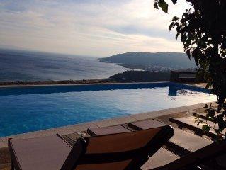 Eleagnos.Luxurius Cycladic villa with private swimming pool and amazing sea view