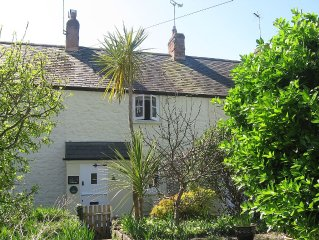 Lime Cottage, Grade II listed, Secluded Courtyard Garden, Distant Sea View