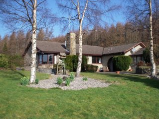 Lovely house in beautiful hillside location 5 miles from Inverness