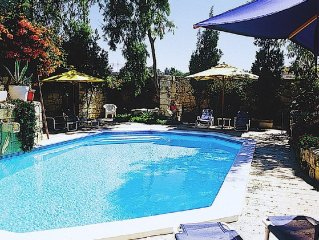 Charming village house of character with private pool & lovely garden