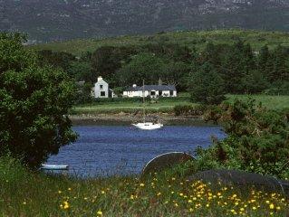 Beautiful situation, property overlooking sea.