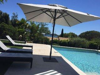 Ramatuelle- l'Escalet : maison avec vue mer, piscine et jardin