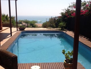 Villa with 5 bedrooms, private pool, terrace and sea views