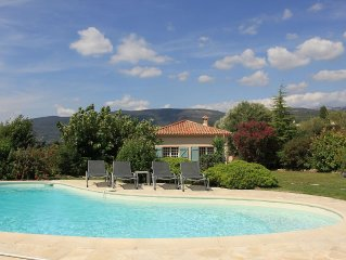 Charming villa with pool and beautiful views within walking distance of Fayence