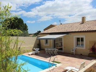 Villa neuve avec piscine privée et jardin