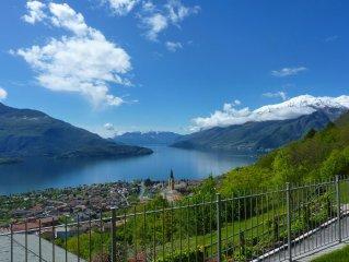 Appartamento in villa per vacanza relax con magnifica vista sul lago di Como
