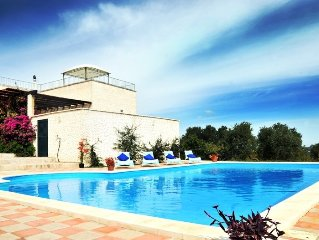 Villa with large pool, stunning views, fantastic for cycling and walking