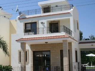 Larnaca Bay Villa with private pool, sea views, in a beautiful location.