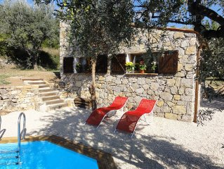 Provence Old Stone Detached Studio with Private Secluded Pool and Stunning views