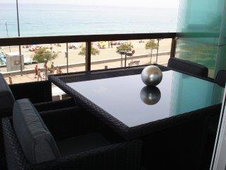 Apartamento capricho 1a linea playa,2 dormitorios,banera Spa. 1250€ 4 semanas!!!