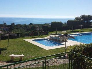 Spacious Apt, Large Terrace Overlooks Pool, Uninterrupted Panoramic Sea Views