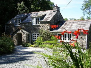 Cornish Cottage. Set In 7 Acres With Trout Fishing, Boscastle, North Cornwall.