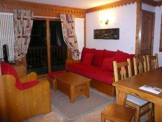 Un appartement grand confort face au Mont Blanc