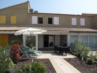 Villa In Portiragnes Plage, Near Beziers, Languedoc-Roussillon, France