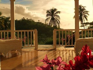 Stunning, idyllic, Caribbean style 3 bedroom villa in one acre of lush gardens.