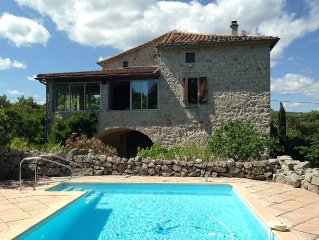 LABEAUME, character house, beautiful garden and s