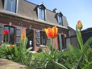 Maison avec jardin dans le village historique de St Valery sur Somme