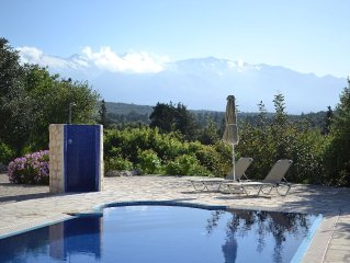 Villa with Private pool, Stunning Sea and Mountain Views