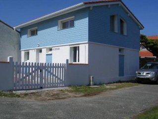 confortable villa bord de mer 4 chambres 8/10 pers ent.climatisée  Wifi, 30 m Bi