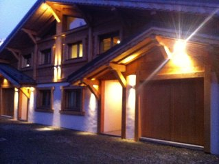 Contemporary 3 bedroom luxury chalet in Chamonix with sauna and cinema room