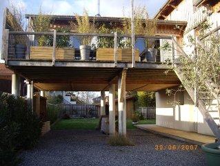 Maison atypique en bois avec jardin (2012) a 5 mn de la plage a pieds