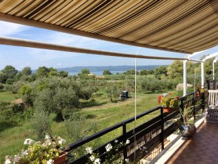 Well appointed apartment with sun terrace and Lake Bolsena view