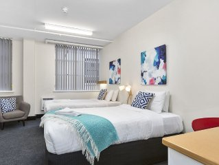 On the Hobart waterfront in sought after Salamanca. Walk everywhere.