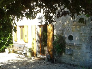 Detached Charentais Cottage with Private Heated Pool for the sole use of cottage