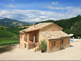 Beautifully Restored Farmhouse with fantastic views. Private Pool & free Wifi