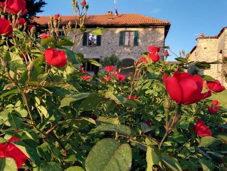 Medieval house with garden beautiful view of Lake Orta and Monte Rosa.